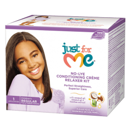 Just For Me No-Lye Conditioning Crème Relaxer Kit Regular